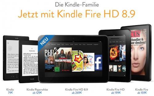 """Amazon™ - eReader/Tablets """"Kindle"""" (alle Varianten) mit 5% Cashback ab €75,68 [@qipu.de]"""