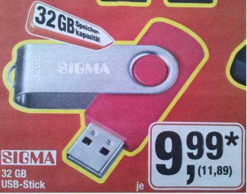 32GB USB Stick @METRO offline NUR Samstag 15.031
