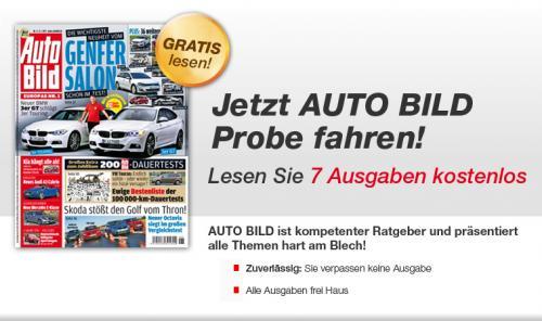 AUTO BILD: 7 Ausgaben kostenlos