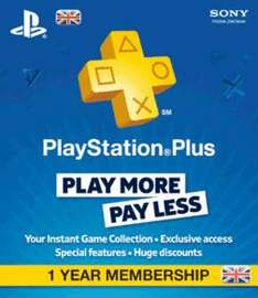 1 Jahr Playstation Plus  Mitgliedschaft (Nur mit UK-Account) @Game.co.uk