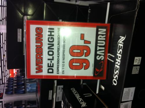 [Lokal  Saturn Witten] Nespresso U für effektiv 29€