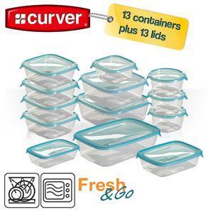 Curver Set bestehend aus 13 Frischhaltedosen mit Deckel  für 20,90 € @ IBood