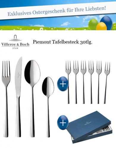 Villeroy & Boch Piemont 30 teilig inkl. Kassette für 70€ @ ebay