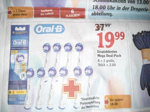 Globus Kaiserslautern 10 oral b Ersatzbürsten 19.99
