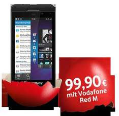 Blackberry Z10 und 24 Monate Vodafone Red M Vertrag inkl. 12 Monate LTE