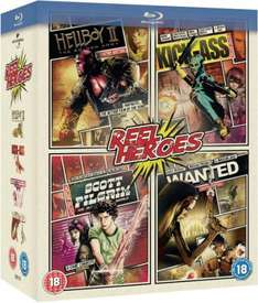 Wanted / Kick-Ass / Scott Pilgrim Vs. The World / Hellboy 2 [BluRay] (teilweise OT)