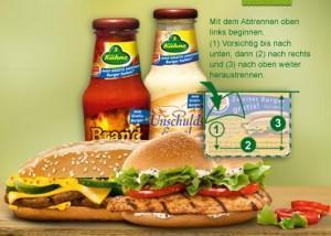 Wieder da: Kühne Sauce mit 2 für 1 Coupon X-tra Long Chili Cheese oder Crispy Chicken bei Burger King
