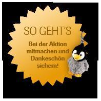 Pinguin-Schlüsselanhänger gratis für jeden abgegebenen Namensvorschlag