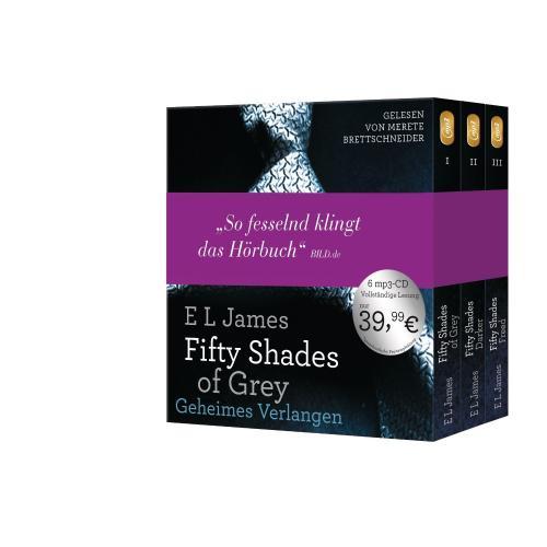 (Blitzangebote) Fifty Shades of Grey. Die Gesamtausgabe (Teil 1-3): Enthält: Geheimes Verlangen, Gefährliche Liebe und Befreite Lust [Audiobook, MP3 Audio] [MP3 CD]