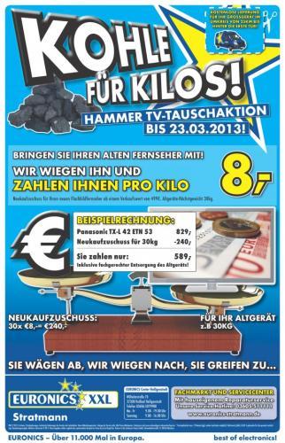 8 Euro Pro Kilo für den Alten Fernseher Euronics XXL in 37308 Heilbad Heiligenstadt