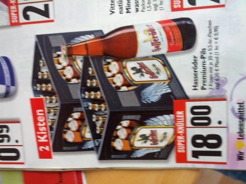2 Kisten Hasseröder Premium Pils + andere Getränke  bei Edeka