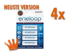 16x  Eneloop 1,2V Mignon AA Akkus 2000 für nur 26,99 EUR inkl. Versand [HR-3UTGB], neueste Version mit 1800 Ladezyklen