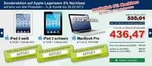 Apple Aktion (iPad / MacBook Pro) für Gewerbetreibende @alpha-buerobedarf
