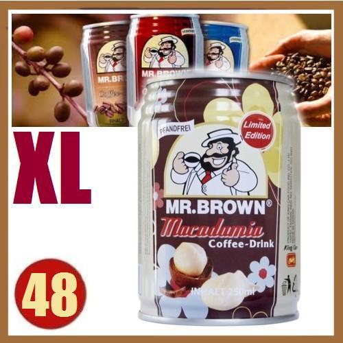 Wieder da !! 48x Eiskaffee Mr. Brown Macadamia Coffee 250ml Dosen + 2*0,99 € Artikel inkl VSK 23,04 € @ Lohnversteigerung