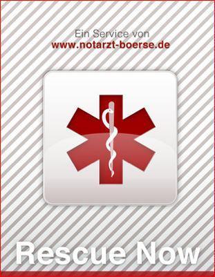 """[Damit der Organspendeausweis nicht zum Einsatz kommt] Erste Hilfe App - """"Rescue Now"""" Iphone"""