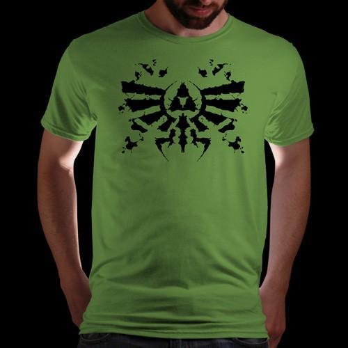 (qwertee.com) Zelda Triforce Rorschach T-Shirt