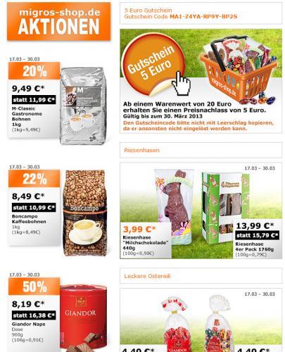 Schweiz Pur - 5 € Gutschein - MBW 20 €