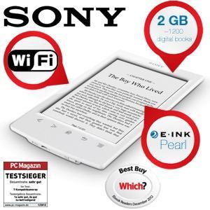 Sony PRS-T2 E-Reader mit Wi-Fi und Touchscreen in weiß [ibood]