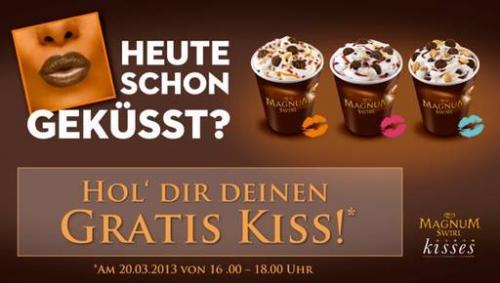 BERLIN (BerlinBoulevard) Gratis Magnum Swirl  16-18 Uhr HEUTE