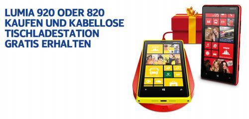 Nokia Tischladestation (kabellos) gratis beim Kauf eines Lumia 920/Lumia 820