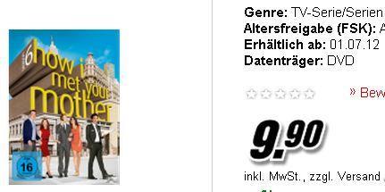 HOW I MET YOUR MOTHER SEASON 1-5 , 6 je Staffel nur 9,90€ (DVD)