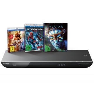 Sony BDP-S 490 3D Bluray Player mit 3 Bluray[3D] Filmen für 116€ @Expert