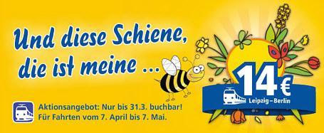 InterConnex Frühlingsoffensive Strecke Leipzig-Berlin 14€  und Rostock-Leipzig 21€ vom 7. April bis zum 7. Mai 2013