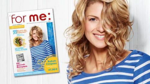 for me-Magazin mit Rabatt Coupons im Wert von 47€ Kostenlos