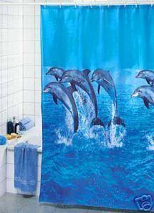 Delfin Duschvorhang für nur 3,99 EUR + 2,49 EUR Versand