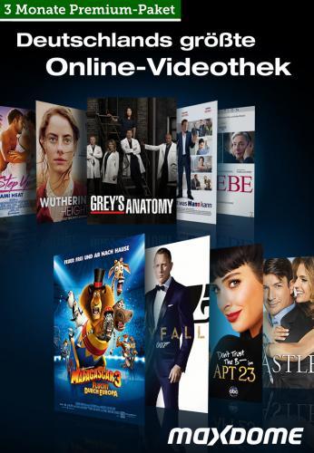 Premium-Paket, 3 Monate, 12 Blockbuster-Gutscheine 14,99€ oder Premium-Paket, 6 Monate, 24 Blockbuster-Gutscheine 39,99€ bei B4F