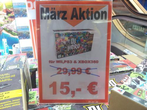 [lokal] Saturn Dortmund - DJ Hero inkl. Turntable Controller für 15€ (PS3, Wii, Xbox 360)