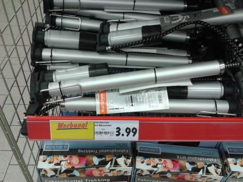 Standluftpumpe mit Manometer für 3,99€ im Kaufland [ws. LOKAL Düsseldorf]