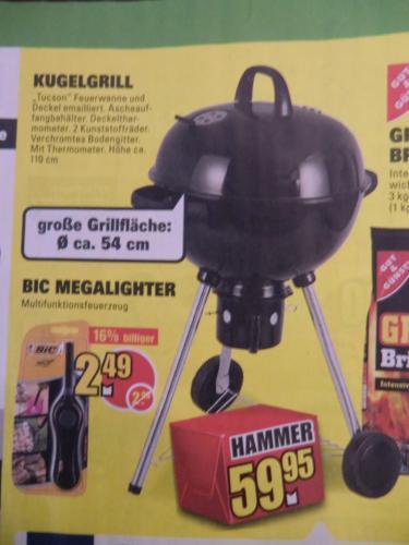 """Tepro Kugelgrill """"Tucson"""", 54 cm Grillfläche, Feuerwanne & Deckel emailliert, Höhe 110 cm --> OFFLINE Marktkauf Löhne / Herford"""