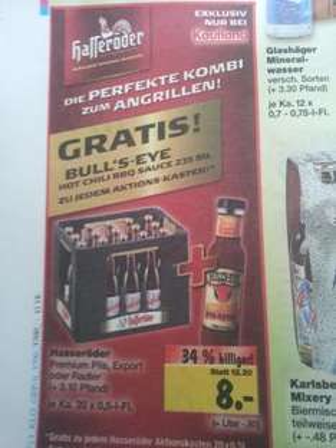 20x 0,5l Hasseröder + 235ml Bull's Eye