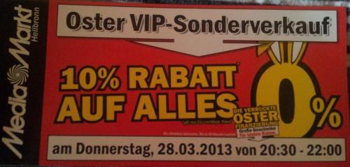 (Lokal) Mediamarkt Heilbronn: 10% auf Alles, 28.03. 20:30