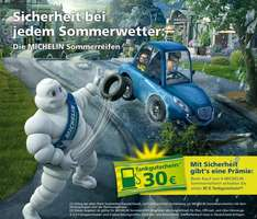 Michelin Sommeraktion 2013 - 30 € Tankgutschein beim Kauf von 4 Sommerreifen