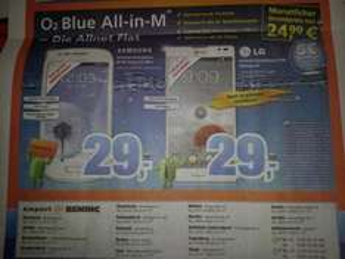 """lokal""O2 blue All in M 24,99 mtl + S3 Mini"