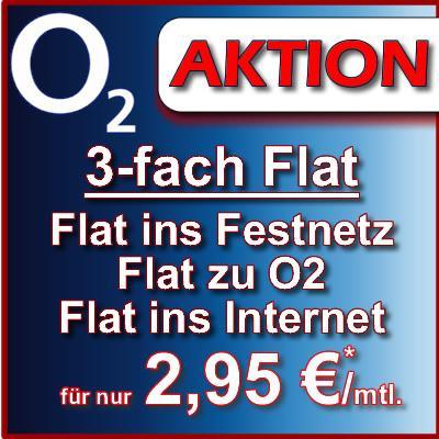 o2-, Festnetz-, Internetflat (300 MB) inkl. Homezonefestnetznummer