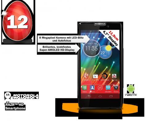 Motorolad Razr HD 16 GB bei Mediamarkt online (Oster-Eilight)