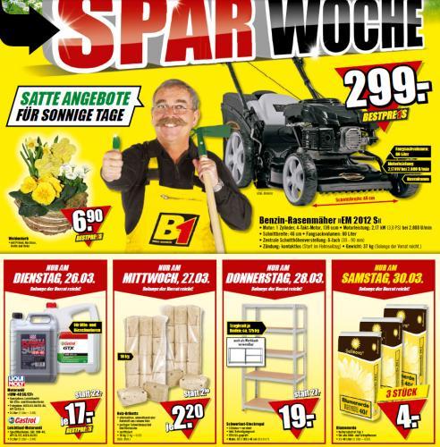 Schwerlast Regal - B1 Discount Baumarkt für 19,00 EUR
