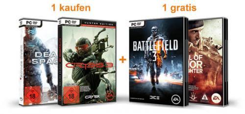 (Amazon) Medal Of Honor oder Battlefield 3 gratis beim Kauf von Dead Space 3 oder Crysis 3