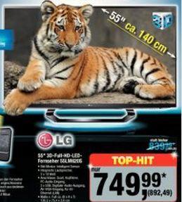 [Metro] LG 55LM620S 3D,LED,EEK A+,Full-HD, 400Hz MCI, DVB-T/C/S2, Smart TV, HbbTV