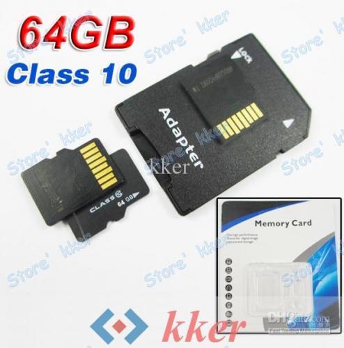 Nur für Mutige! 64GB SDHC MICRO SD Speicherkarte+SD Adapter @Ebay