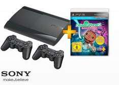PS3 12GB + 2 Dual Shock Controller + Little Big Planet 2 Extra Edition BUNDESWEIT