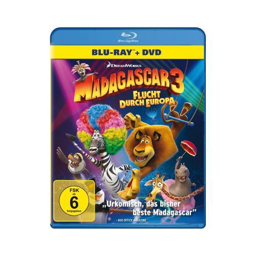 [Lokal offline Saturn Hamburg] Madagaskar 3 Blu-ray + DVD  für 7 Euro