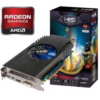 1024MB HIS Radeon HD 7850 GDDR5 Aktiv PCIe 3.0 x16 (Retail)