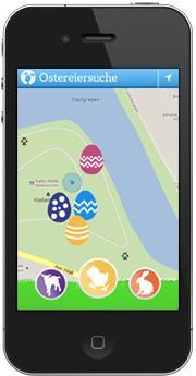 Ostereiersuche auf dem iPhone und auf Android