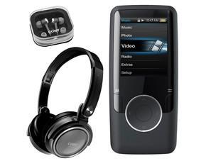 Coby MP620 MP3 Player 8GB + Coby CV185-SLR OnEar Kopfhörer - 40,32€ portofrei