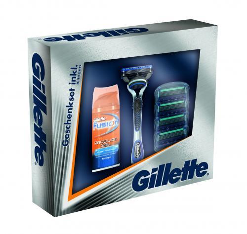 [Amazon] Gillette Fusion ProGlide Geschenkset (Rasierer, 4er Klingen, ProGlide Mini-Gel)