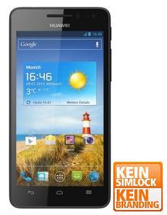 Huawei Ascend G 615 schwarz, 1.4 GHz Quad-Core-Prozessor, 8 GB interner Speicher, microSD, 4.5'' / 1280 x 720 Pixel / 330 PPI Display - [notebooksbilliger.de]